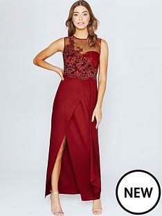 little-mistress-little-mistress-scarlet-red-lace-applique-maxi-dress