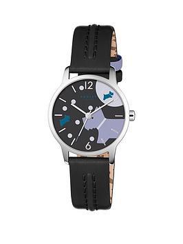radley-radley-over-the-moon-black-print-dial-black-leather-strap-ladies-watch