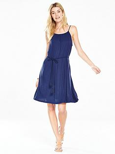 v-by-very-gathered-jersey-beach-dress-navynbsp