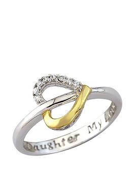 love-silver-sterling-silver-and-yellow-rhodium-cubic-zirconia-personalised-open-heart-ring