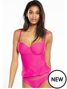 v-by-very-controlwear-underwired-tankini-top-pink