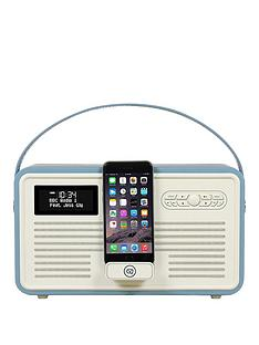 view-quest-retro-mk-ii-dab-bluetooth-wireless-radio-red