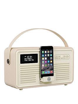 view-quest-retro-mk-ii-dab-bluetooth-wireless-radio-cream