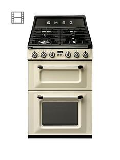 smeg-tr62pnbspvictorianbsp60cm-2-cavity-dual-fuel-mini-range-cooker-cream
