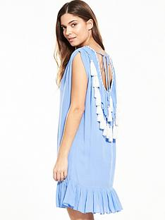 v-by-very-tassel-back-beach-dressnbsp