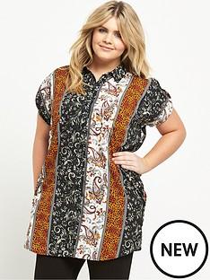 ax-paris-curve-double-pocket-printed-shirt