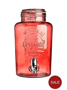 kilner-5-litre-drinks-dispenser-in-red