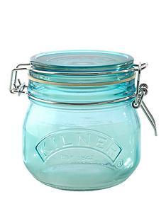 kilner-kilner-3-piece-05-litre-clip-jar-set-blue