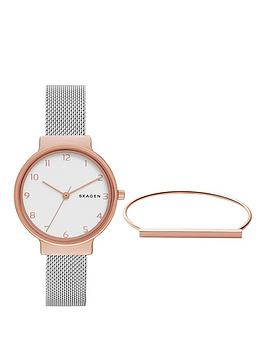 skagen-ancher-watch-amp-anette-bracelet-ladies-gift-set