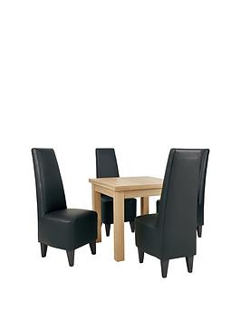 square-to-rectangle-80-160-cm-extending-dining-table-4-manhattan-chairs