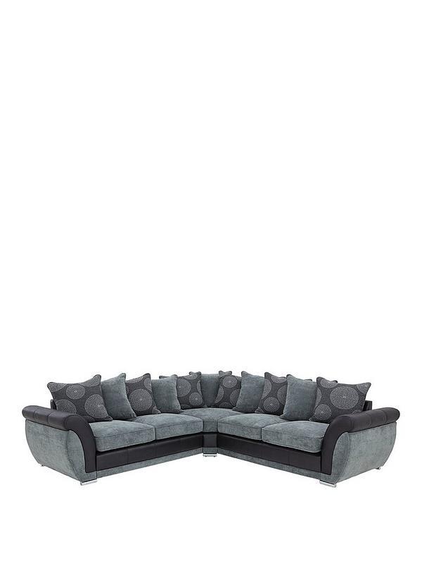 Groovy Danube Fabric And Faux Snakeskin Corner Group Sofa Creativecarmelina Interior Chair Design Creativecarmelinacom