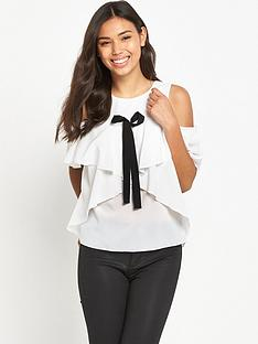 tfnc-layered-cold-shoulder-bow-top