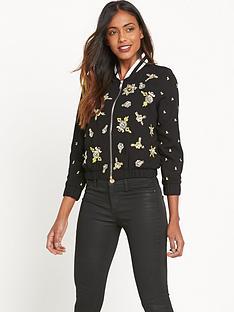 river-island-embellished-bomber-jacket-blackyellow