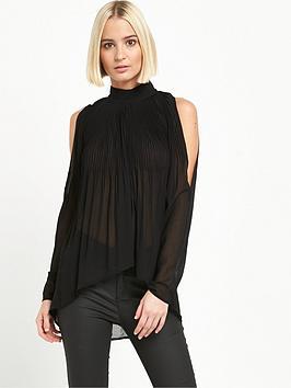 river-island-plisse-cold-shoulder-blouse