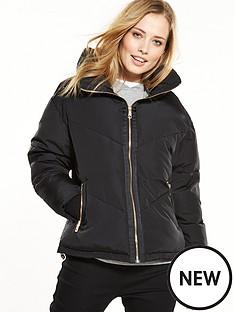 v-by-very-short-padded-funnel-neck-coat-black