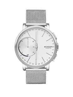 skagen-skagen-hagen-connected-silver-white-dial-stainless-steel-bracelet-smart-watch