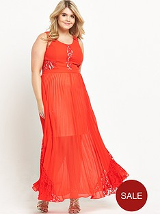 v-by-very-curve-pleat-and-lace-maxi-dress-orange
