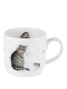 portmeirion-wrendale-cat-and-mouse-mug-cat-by-royal-worcester-single-mug