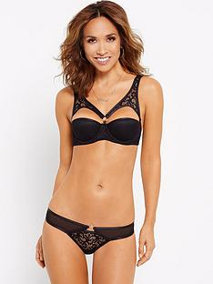 myleene-klass-ring-lace-thong-black
