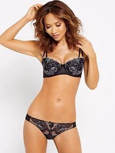 myleene-klass-large-flower-embroidered-brief-grey