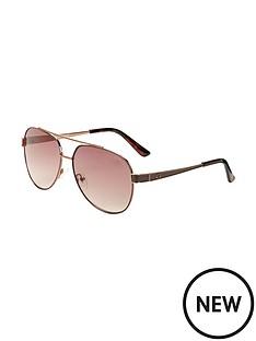 guess-aviator-sunglasses-brown