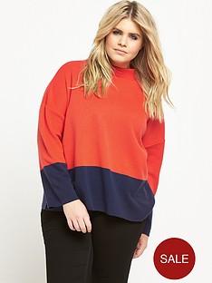 so-fabulous-colour-block-knit-jumper-navyorange