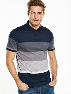 v-by-very-short-sleeve-interest-stripe-polo