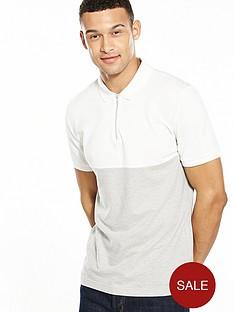 v-by-very-short-sleeve-zip-polo