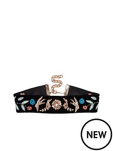 river-island-swallow-embroidered-choker