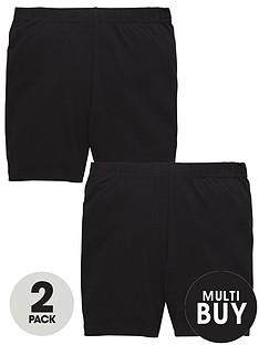 v-by-very-schoolwear-girls-school-cycling-shorts-black-2-pack