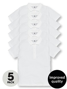 v-by-very-boys-5-pack-school-polo-shirts-white