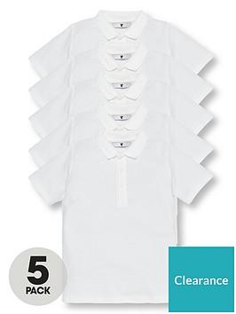 v-by-very-boys-5-pack-short-sleeve-school-polo-shirts-white