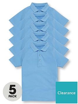 v-by-very-boys-5-pack-short-sleeve-school-polo-shirts-blue