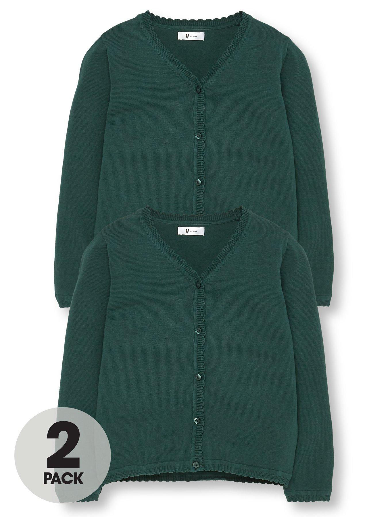 Girls x2 Open Neck Revere Collar Blouses Twin 2 In Pack Blouse School Uniform
