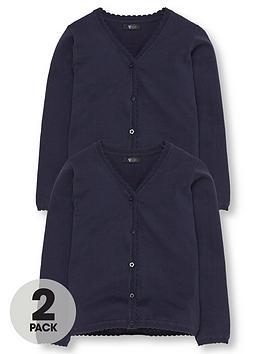 v-by-very-schoolwear-girls-school-cardigans-navy-2-pack