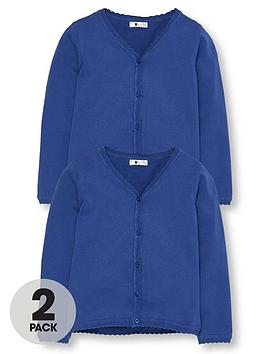 v-by-very-girls-2-pack-knitted-school-cardigans-royal-blue