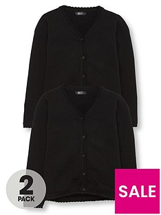 v-by-very-girls-2-pack-knitted-school-cardigans-black