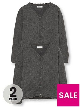 v-by-very-girls-2-pack-knitted-school-cardigans-grey