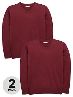v-by-very-schoolwear-boys-v-neck-school-jumpers-2-pack