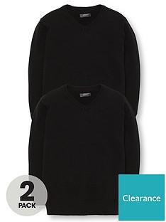 v-by-very-2-pack-v-neck-school-jumpers-black