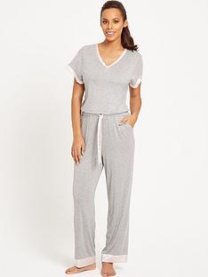 rochelle-humes-spot-trim-lounge-jumpsuit-grey