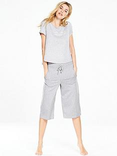 v-by-very-stripe-cropped-pj-set-greynbsp