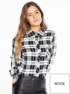 v-by-very-petite-petite-cropped-check-shirt