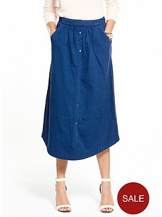 v-by-very-button-front-midi-skirt-bright-bluenbsp