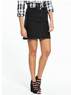 v-by-very-fray-hem-a-line-mini-skirt