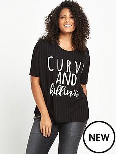 so-fabulous-soft-rib-slogan-t-shirt-black