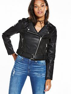 noisy-may-suedette-biker-jacket-black
