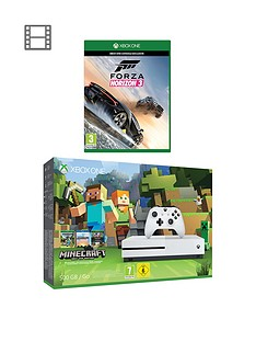 xbox-one-s-500gb-console-minecraft-favourites-bundle-with-forza-horizon-3-plus-optional-12-months-live-gold-andor-an-extra-dualshock-controller