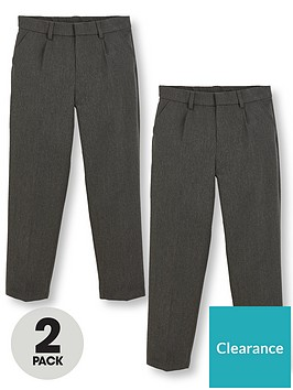 v-by-very-boys-2-pack-classic-woven-school-trousers-grey