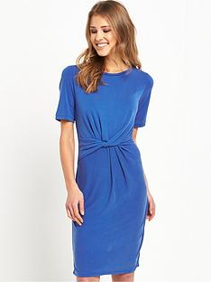 selected-femme-sasha-knot-dress-mazarine-blue